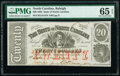 Obsoletes By State:North Carolina, Raleigh, NC- State of North Carolina $20 Jan. 1, 1863 Cr. 119 PMG Gem Uncirculated 65 EPQ.. ...