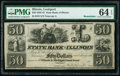Obsoletes By State:Illinois, Lockport, IL- State Bank of Illinois $50 18__ Remainder PMG Choice Uncirculated 64 EPQ.. ...