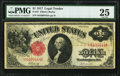 Large Size:Legal Tender Notes, Binary Serial Number Fr. 37 $1 1917 Legal Tender PMG Very Fine 25.. ...