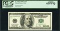 Small Size:Federal Reserve Notes, Radar Serial Number 33000033 Fr. 2182-F $100 2006A Federal Reserve Note. PCGS Gem New 65PPQ.. ...