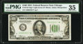 Small Size:Federal Reserve Notes, Fr. 2152-G* $100 1934 Light Green Seal Federal Reserve Note. PMG Choice Very Fine 35.. ...