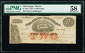 Obsoletes By State:Mississippi, Macon, MS- State of Mississippi $2 May 1, 1864 Cr. 43 PMG Choice About Unc 58.. ...