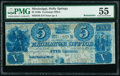 Holly Springs, MS- Exchange Office $5 18__ Leggett 6 Remainder PMG About Uncirculated 55