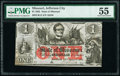 Obsoletes By State:Missouri, Jefferson City, MO- State of Missouri (Secessionist) $1 Jan. 1, 1862 Cr. 13 PMG About Uncirculated 55.. ...