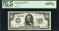 Fr. 2101-E $50 1928A Dark Green Seal Federal Reserve Note. PCGS Gem New 65PPQ