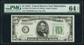 Fr. 1959-C $5 1934C Wide Federal Reserve Note. PMG Choice Uncirculated 64 EPQ