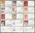 Autographs:Others, 1979-86 Hall of Famers Signed First Day Cover (16) Plus Two Unsigned FDC. ...