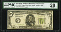 Fr. 1953-F $5 1928C Federal Reserve Note. PMG Very Fine 20