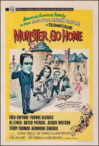 """Munster, Go Home (Universal, 1966). Fine+ on Linen. One Sheet (27.5"""" X 41""""). Comedy"""