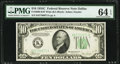Fr. 2008-K $10 1934C Wide Federal Reserve Note. PMG Choice Uncirculated 64 EPQ