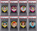 Baseball Cards:Sets, 1973 Topps Candy Lids Complete Set (55). ...