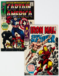 Captain America #1/Iron Man and Sub-Mariner #1 Group (Marvel, 1968).... (Total: 2)