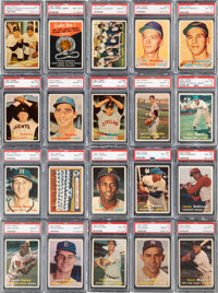 1957 Topps Baseball PSA Graded Complete Set (407) With Lucky Penny Insert and Baker Error - No Card Graded Below PSA NM-...