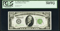 Small Size:Federal Reserve Notes, Fr. 2002-B $10 1928B Dark Green Seal Federal Reserve Note. PCGS Choice About New 58PPQ.. ...