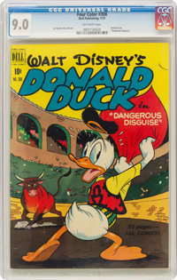 Four Color #308 Donald Duck (Dell, 1951) CGC VF/NM 9.0 Off-white pages