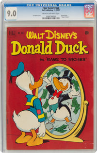 Four Color #356 Donald Duck (Dell, 1951) CGC VF/NM 9.0 Cream to off-white pages