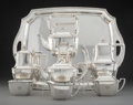 Silver & Vertu, A Eight-Piece Tiffany & Co. Hampton Pattern Silver Tea and Coffee Set, New York, circa 1912. Marks: TIFFANY & ... (Total: 9 )