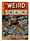 Golden Age (1938-1955):Science Fiction, Weird Science #12 (EC, 1952) Condition: VG-. Wally Wood cover.Interior art by Wood, Jack Kamen, and Reed Crandall. Brown ed...