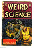 Golden Age (1938-1955):Science Fiction, Weird Science #19 (EC, 1953) Condition: FR. Used in Seduction ofthe Innocent. Ray Bradbury biography. Wally Wood cover,...