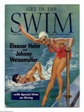Hollywood Memorabilia:Miscellaneous, Get In the Swim #nn (Anthony P. Cima, 1940) Condition: FN. This is an illustrated instructional swimming magazine, featuring...