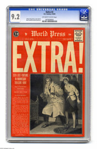 Extra! #2 (EC, 1955) CGC NM- 9.2 Off-white to white pages. Johnny Craig cover. Craig, Reed Crandall, and John Severin ar...