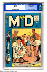 M.D. #4 Gaines File pedigree 1/12 (EC, 1955) CGC NM- 9.2 Off-white pages. Watered-down EC was still superior to most any...