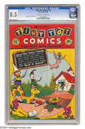 Golden Age (1938-1955):Funny Animal, Tiny Tot Comics #4 (EC, 1946) CGC VF+ 8.5 Off-white to white pages.Cover and all art are by Burton Geller. As of this writi...