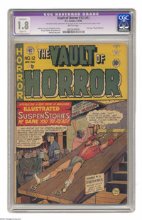 Vault of Horror #12 (EC, 1950) CGC Apparent GD- 1.8 Slight (P) Brittle pages. First issue of the title. Overstreet notes...