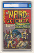 Golden Age (1938-1955):Science Fiction, Weird Science #14 (#3) (EC, 1950) CGC VF 8.0 Off-white pages.Post-apocalyptic scenarios were revisited several times by EC'...