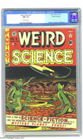 Golden Age (1938-1955):Science Fiction, Weird Science #6 Gaines File pedigree (EC, 1951) CGC NM- 9.2Off-white pages. Ride a rocket ship to Venus with the EC crew: ...