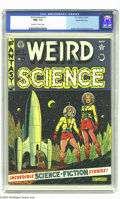 Golden Age (1938-1955):Science Fiction, Weird Science #7 Gaines File pedigree 8/10 (EC, 1951) CGC NM+ 9.6Off-white to white pages. If the bubble-helmeted spaceman ...