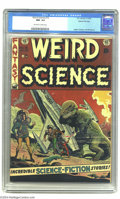 Golden Age (1938-1955):Science Fiction, Weird Science #15 Gaines File pedigree (EC, 1952) CGC NM- 9.2Off-white to white pages. Wally Wood turned in one of his grea...