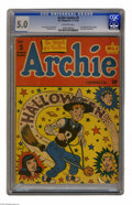 "Golden Age (1938-1955):Horror, Archie Comics #5 (Archie, 1943) CGC VG/FN 5.0 Off-white pages. Thisearly issue of young Mr. Andrews' own title is dubbed ""u..."