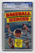 Golden Age (1938-1955):Non-Fiction, Baseball Heroes #nn Crowley pedigree (Fawcett, 1952) CGC VF+ 8.5Cream to off-white pages. Hall of Famers Babe Ruth and Walt...