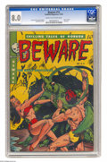 Golden Age (1938-1955):Horror, Beware #12 (Youthful Magazines, 1952) CGC VF 8.0 Cream to off-whitepages. Used in Seduction of the Innocent. Last issue...