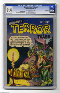 Beware Terror Tales #2 Crowley pedigree (Fawcett, 1952) CGC NM 9.4 Off-white to white pages. Pre-Code creepiness was the...