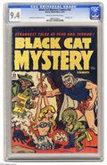 Golden Age (1938-1955):Horror, Black Cat Mystery #32 (Harvey, 1951) CGC NM 9.4 Cream to off-whitepages. Bondage cover. Rudy Palais and Bob Powell art. Thi...