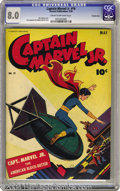 """Golden Age (1938-1955):Superhero, Captain Marvel Jr. #19 Crowley pedigree (Fawcett, 1944) CGC VF 8.0 Cream to off-white pages. Years before """"Dr. Strangelove,""""..."""