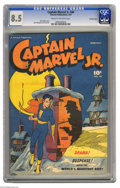 Golden Age (1938-1955):Superhero, Captain Marvel Jr. #46 Crowley pedigree (Fawcett, 1947) CGC VF+ 8.5 Cream to off-white pages. Here's another sharp copy from...