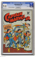 Golden Age (1938-1955):Superhero, Captain Marvel Jr. #58 Crowley pedigree (Fawcett, 1948) CGC VF/NM 9.0 Cream to off-white pages. This high-grade specimen fro...
