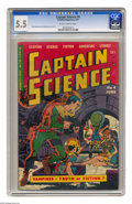Golden Age (1938-1955):Science Fiction, Captain Science #4 (Youthful Magazines, 1951) CGC FN- 5.5 Slightly brittle pages. Wally Wood and Joe Orlando cover and art. ...