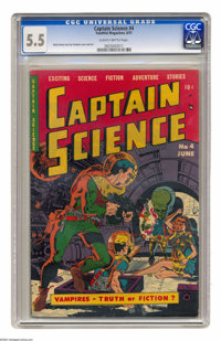 Captain Science #4 (Youthful Magazines, 1951) CGC FN- 5.5 Slightly brittle pages. Wally Wood and Joe Orlando cover and a...