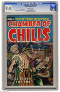 Golden Age (1938-1955):Horror, Chamber of Chills #22 (Harvey, 1954) CGC NM 9.4 Off-white pages.Overstreet doesn't mince words when discussing Chamber of...