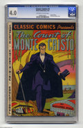 Golden Age (1938-1955):Classics Illustrated, Classic Comics #3 The Count of Monte Cristo (Elliott, 1942) CGC VG 4.0 Off-white to white pages. Original edition. Overstree...