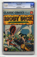 Golden Age (1938-1955):Classics Illustrated, Classic Comics #5 Moby Dick - Interior Cover Promo Variant(Gilberton, 1942) CGC GD 2.0 Off-white to white pages. Originale...