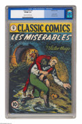 Golden Age (1938-1955):Classics Illustrated, Classic Comics #9 Les Miserables (Gilberton, 1943) CGC VF/NM 9.0Cream to off-white pages. You've read the book, you've seen...