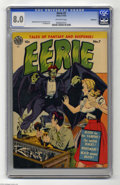 Golden Age (1938-1955):Horror, Eerie #7 Bethlehem pedigree (Avon, 1952) CGC VF 8.0 Off-whitepages. This pre-Code horror book features the work of three bi...