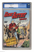 Golden Age (1938-1955):Western, Gene Autry Comics #8 Mile High pedigree (Fawcett, 1943) CGC NM 9.4White pages. This issue's Jim Chambers cover shows the st...