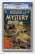 Golden Age (1938-1955):Horror, House of Mystery #1 (DC, 1952) CGC VG+ 4.5 Off-white to whitepages. Not only was this issue DC's first horror comic, it bec...