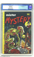Golden Age (1938-1955):Horror, Mister Mystery #2 Double Cover (Aragon, 1951) CGC NM- 9.2 Cream tooff-white pages. Overstreet calls the story Kurtzmanesque...